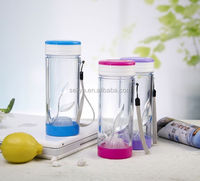 High quality fruit infuser water bottle bpa free crystal clear water cup