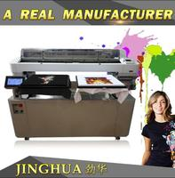 Industrial direct to garment 5 color10 channels flatbed 3d inkjet printing machinery