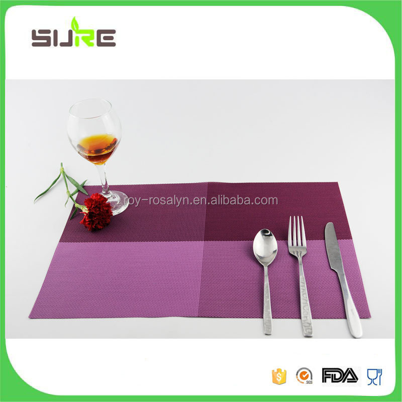 Modern style simple design pvc table mat on sale