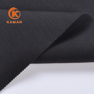 new 2018 lycra carbon black knitting nylon cotton fabric for pants