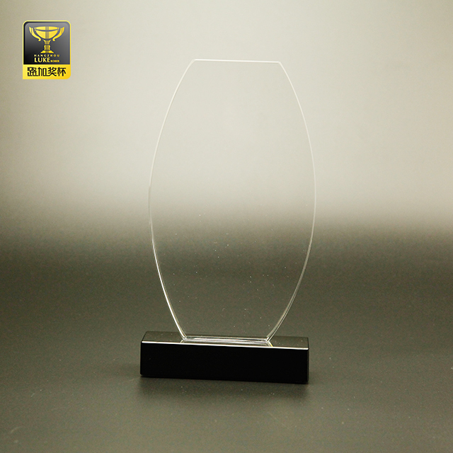 crystal craft memorial football gifts blank trophy awards plaque