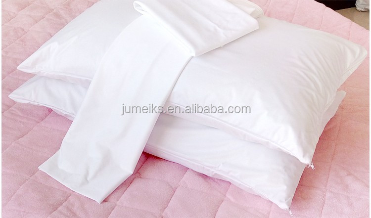 pillow case, pillow cover soft white waterproof allergy proof