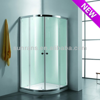 6MM tempered glass shower cabin double pivot shower door