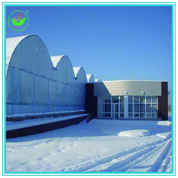 Hot dip galvanizing steel plastic film winter greenhouse with heater