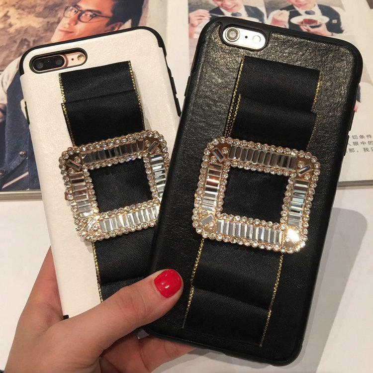 New Handmade Wallet Stand Bling Pearl Diamond Rhinestone Leather Flip Cover Case for Smartphone for iphone6s