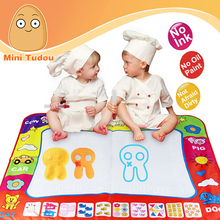 Minitudou 80*60CM Water Drawing Mat With 2PCS Magic Pen Child's Drawing Board/Drawing Mat Coloring Painting Games