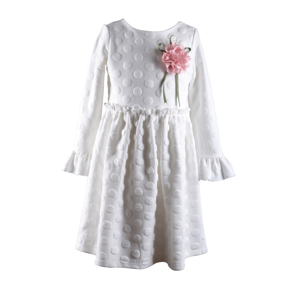 children frocks dress baby girl princess designs 2016 with long ruffle sleeves