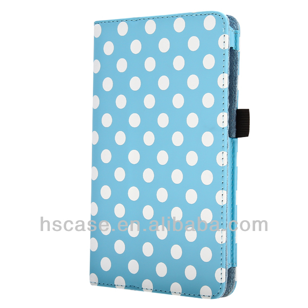 Polka Dots Leather Wallet Case For Asus Google Nexus 7 7""