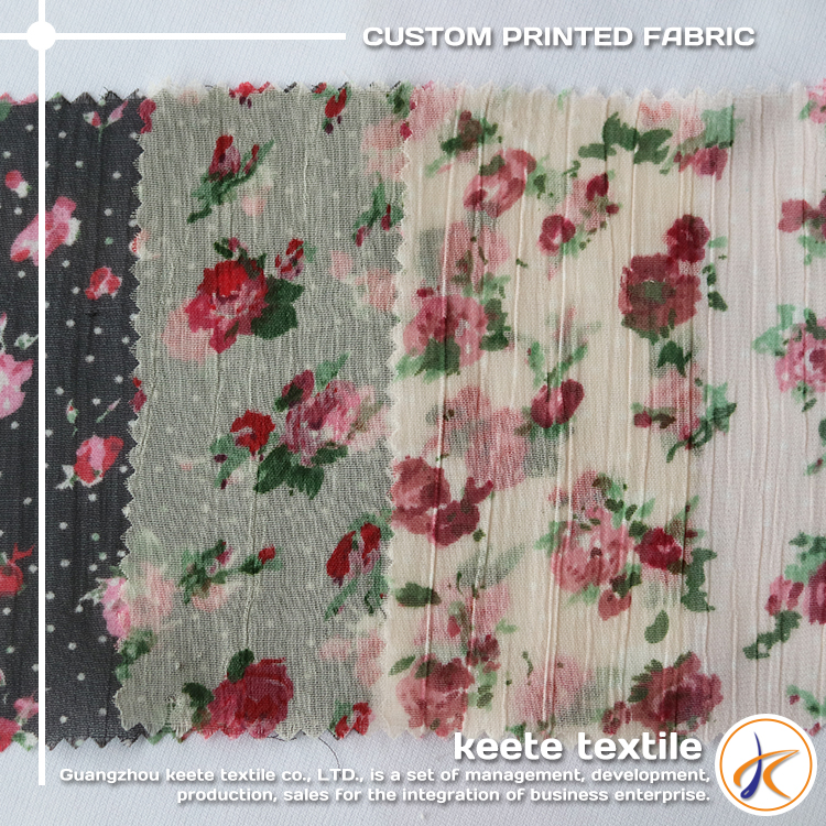 quality and quantity assured silk chiffon floral printed fabric