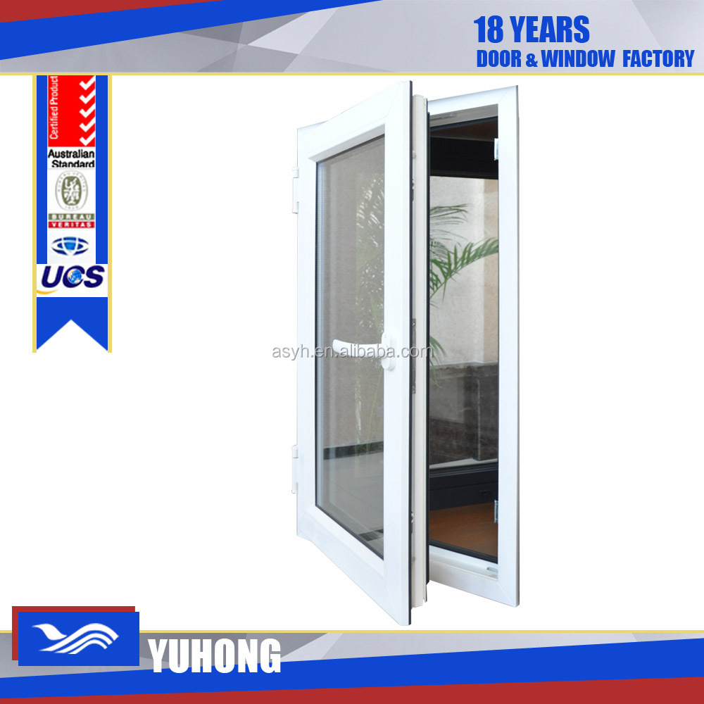 Upvc double insulated glass casement window with germany for Buy casement windows online