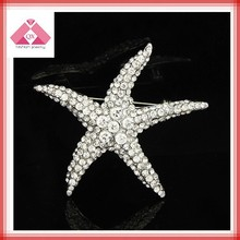 Top 10 big starfish brooch with rhinestone for woman rhinestone animal brooches(QXBC15001)