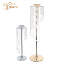 New fashion Metal Acrylic crystal beaded flower stand Supplies wedding Party Decoration road Lead Wedding Table Centerpieces