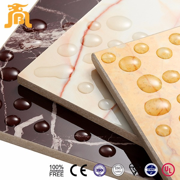 UV Coating High Quality Pre Coated Design Glazed Art Decoration Calcium Silicate Board For Corridor
