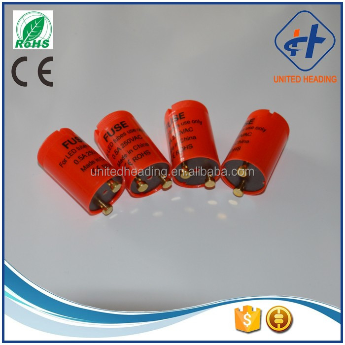 CE ROHS certification T8 lamp led starter high quality 0.25A/0.5A/1A/2A led tube starters