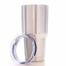 Double Wall Vacuum Insulated 18/8 Stainless Steel Tumbler Cup 30 Oz Keeps Cold or Hot