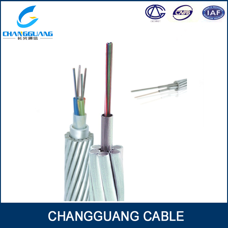 Optical Fiber Composite Overhead Ground Wire OPGW 144 Core Single Mode Fiber Optic Audio Cable
