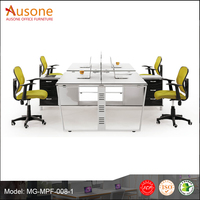 office workstation partition 4 seat workstation desk