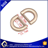custome logo metal d ring for handbag and handbag hardware factory price