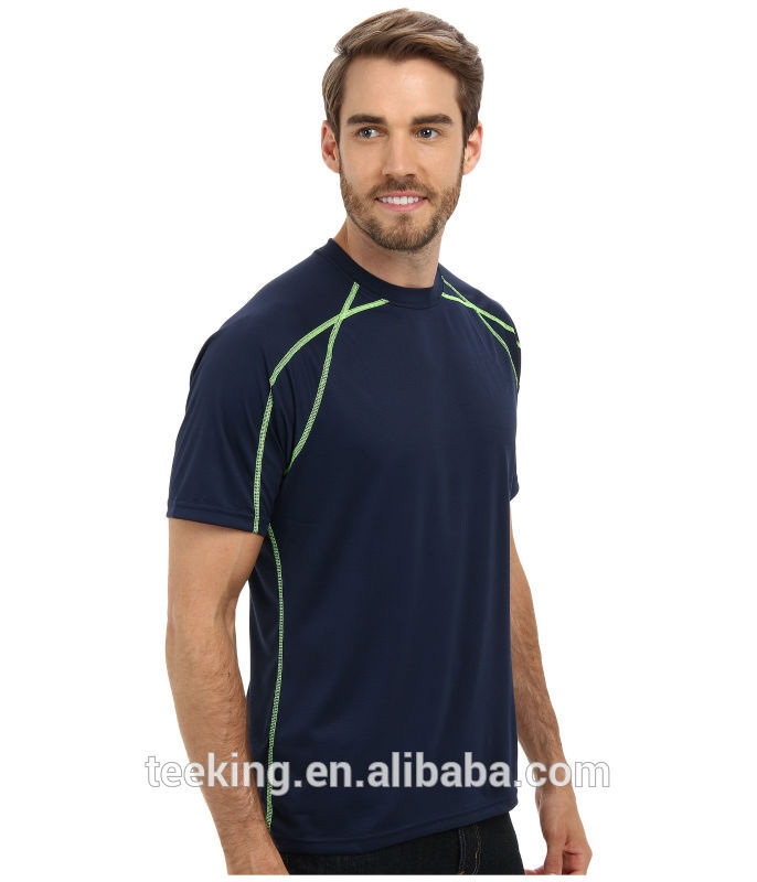 Custom cheap dry fit polyester running shirts