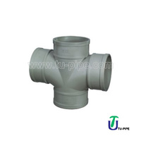 UPVC Plane cross BS/Drainage Fitting