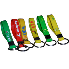 2019 hot selling 100% Eco Friendly freely samples promotional 1/2 inch Custom print logo soft Silicone Key Chains