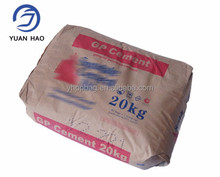 25kg 50kg high quality kraft paper valve cement bag with printing