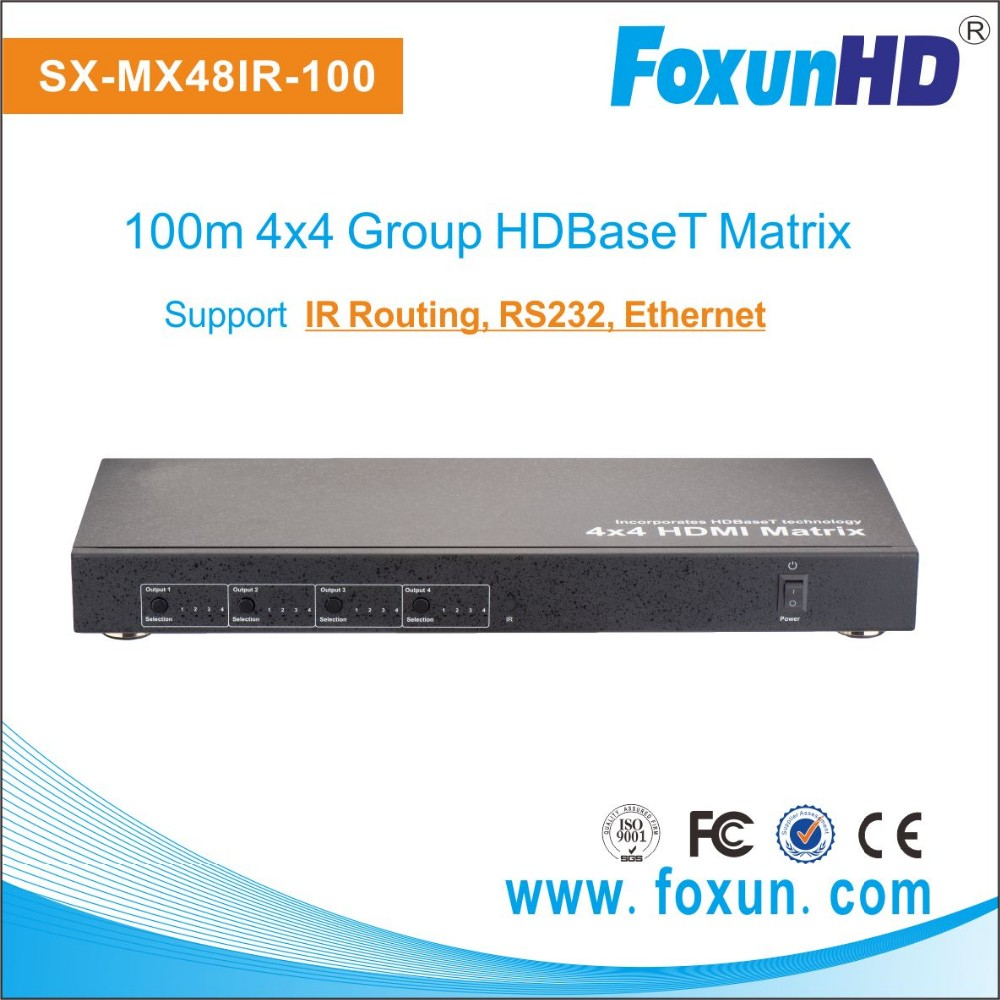 Full 3D 4x4 HDMI Matrix switch up to 100m HDMI switcher with Ethernet and RS232 control