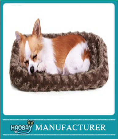 Warm Pet Bed Crate or Kennel Bolster Dog Bed, Fleece Plush