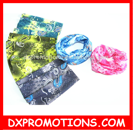 multi use bandana for face/hair/wrist