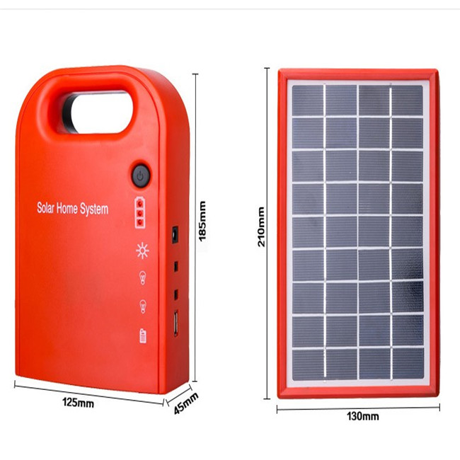 Industrial Home Mini Portable Solar Led Light Lighting System, Polycrystalline Silicon Portable Solar Power System Generator