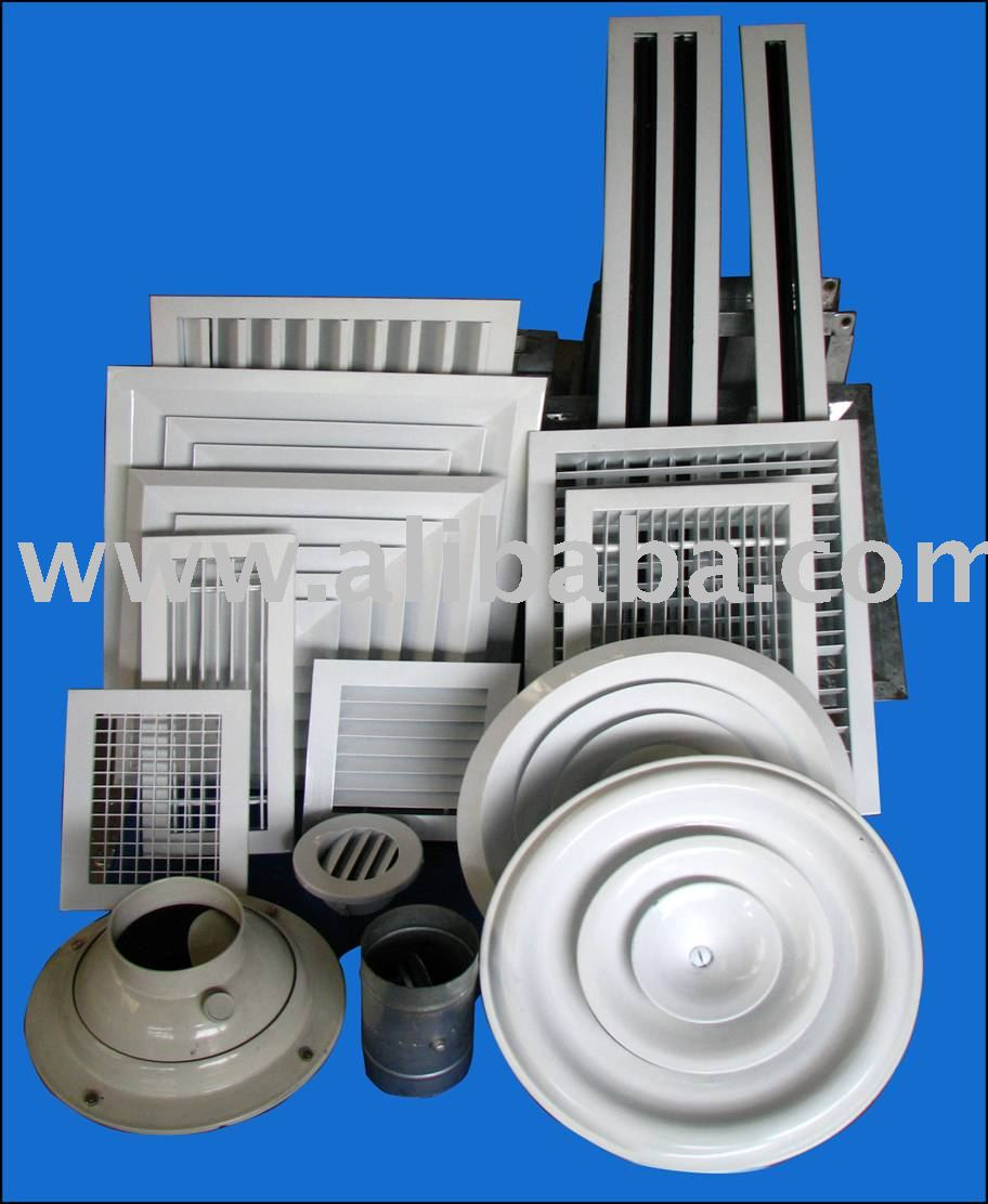 slot diffuser, volume damper, supply ceiling diffuser