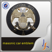 Wholesale Masonic Car Emblem Custom Metal Chrome Emblems