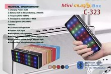 C-323 mini beats audio bluetooth speaker think box