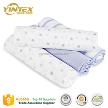 Custom Design 100% Cotton and Bamboo Organic Cotton Muslin Swaddle Blanket