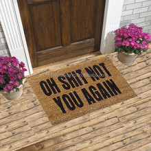 Funny Oh Shit Not You Again Coir Doormats