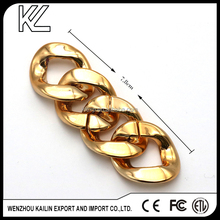 Gold plastic decorative buckles with quality