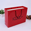 clothing shop red color laminated customised paper bag
