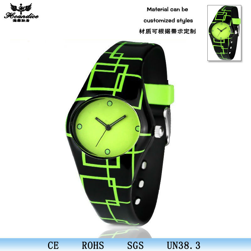 2014 famous custom printed logo silicone watches