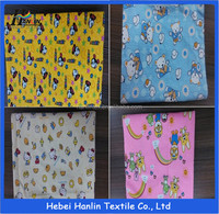 custom printing 100% cotton flannel fabric for bed sheets and baby clothes/flannel fabric nautical print