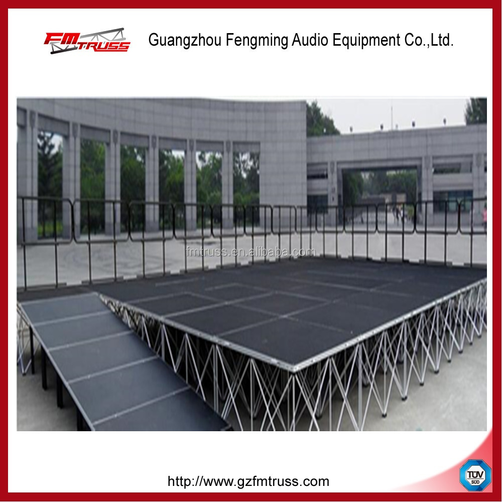 Foldable aluminum alloy material stage structure