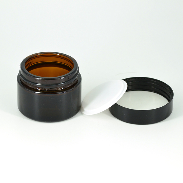 Classical amber face cream round cosmetic jar packaging