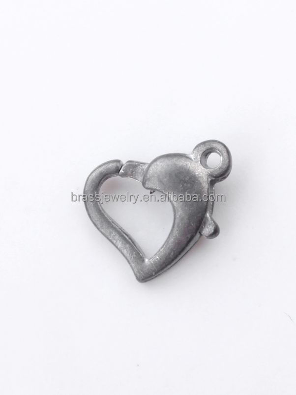 China suppliers silver plated zink alloy components of jewelry necklace lobster clasps