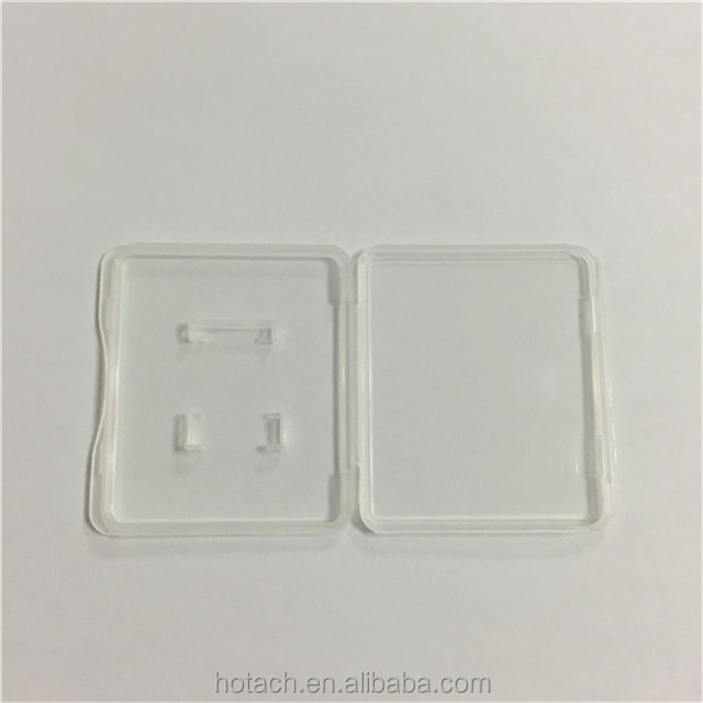 environmental protection materials Hard pp case SD Card plastic clear box