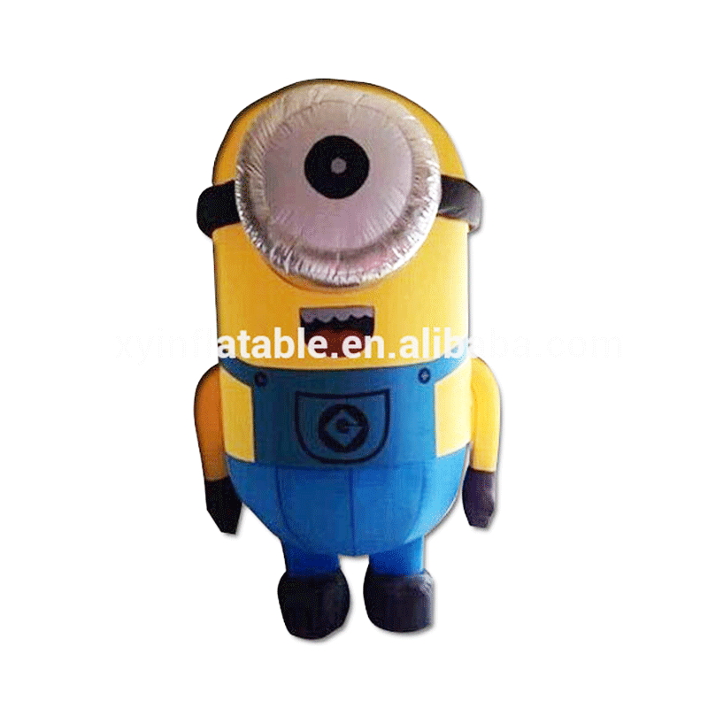 2015 New Inflatable yellow Minion Cartoon Characters for Advertising
