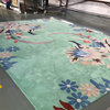 The New Style Flower Pattern Wool and Silk Blend Rug, Handmade Carpet