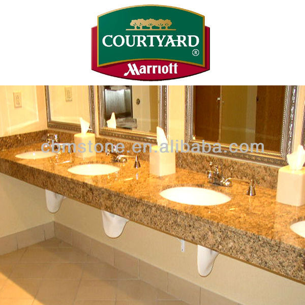 Hotel Bathroom Granite Vanity Countertop