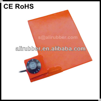 CE RoHS Approved 12V Silicone Rubber Flexible Heating/Heater Pad Sheet/Mat