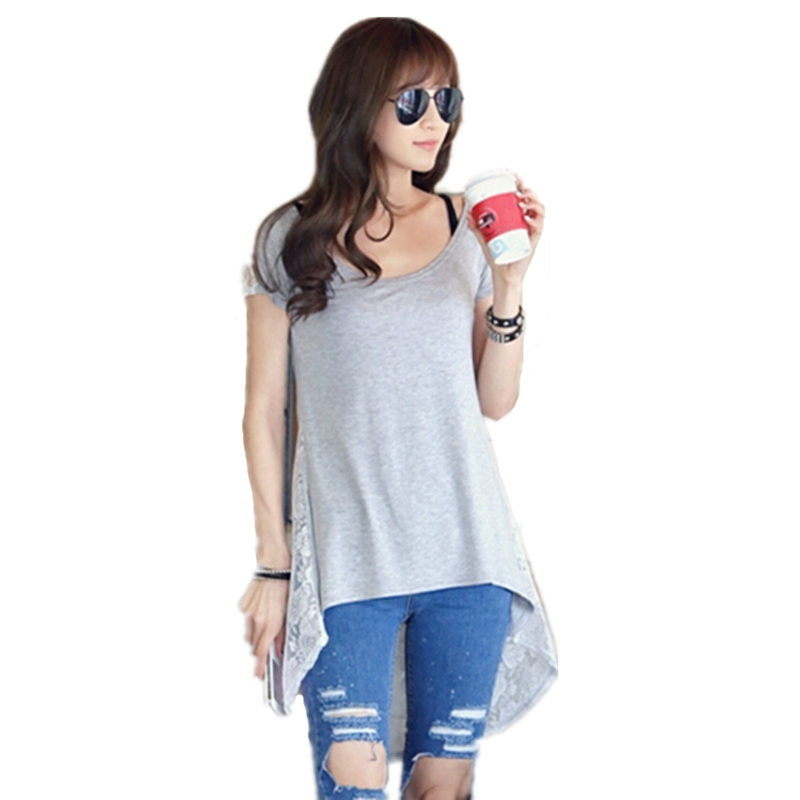 korean style lace back design black and gray summer new fashion blank <strong>t</strong>-<strong>shirt</strong>,<strong>t</strong> <strong>shirt</strong> wholesale