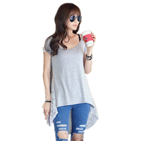 korean style lace back design black and gray summer new fashion blank t-shirt,t shirt wholesale