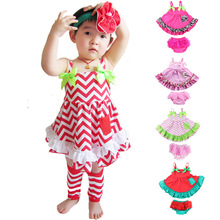 onen suit retail white top+short children clothing girls suit short set